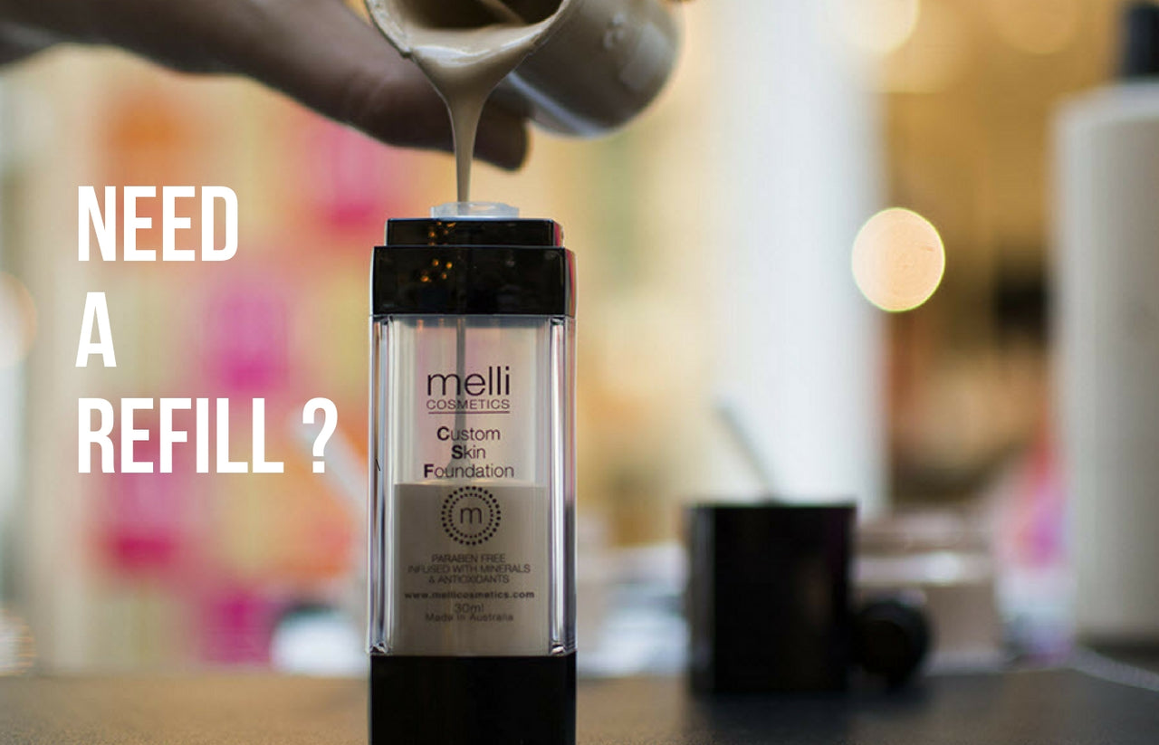 melli cosmetics custom blend foundation refill