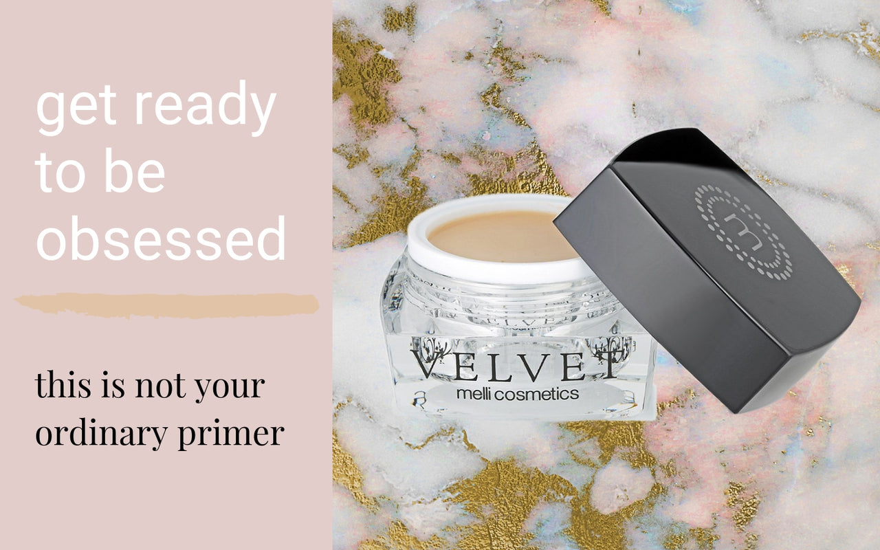 melli cosmetics velvet primer creates flawless primed skin