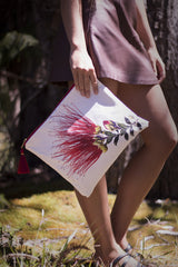 """Lehua Love"" Handmade Canvas Bag"