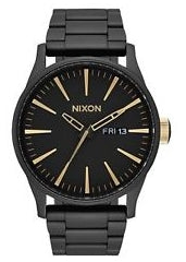 NIXON SENTRY SS MATTE BLACK / GOLD A356 1041