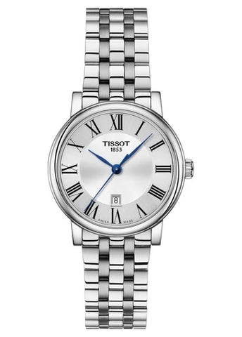 TISSOT SWISS LADIES CARSON SILVER DIAL STAINLESS STEEL T122-210-11-033-00