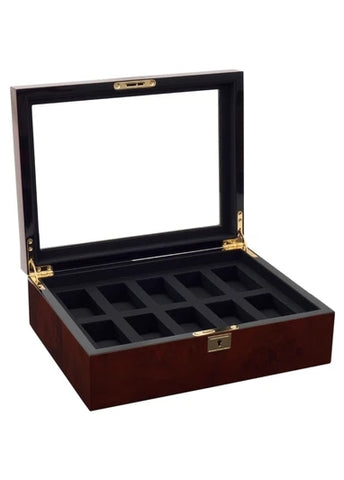 WOLF WATCH BOX 10 PIECE BURLWOOD 461610
