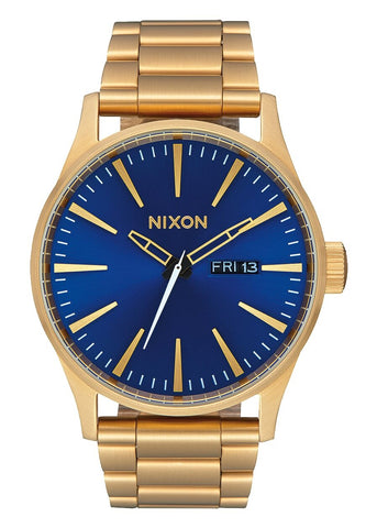 NIXON SENTRY SS GOLD / BLUE SUNRAY / GOLD A356 3334-00