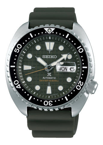 SEIKO GENTS PROSPEX AUTOMATIC DIVERS GREEN DIAL(KING TURTLE) SRPE05K