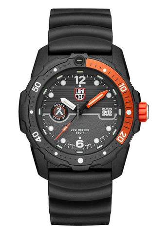 LUMINOX BEAR GRYLLS BLACK / ORANGE BLACK STRAP XB.3729
