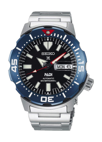 SEIKO GENTS PROSPEX MONSTER PADI DIVERS AUTOMATIC SRPE27K