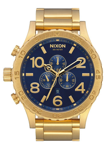 NIXON 51-30 CHRONO GOLD / BLUE SUNRAY / GOLD A083 3334-00