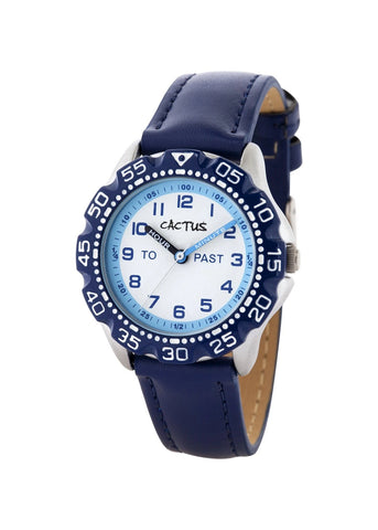 CACTUS KIDS MASTER 12 FIGURE DIAL BLUE STRAP CAC-121-M03