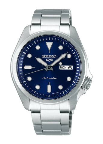 SEIKO GENTS 5 SPORTS AUTOMATIC BLUE DIAL STAINLESS STEEL SRPE53K