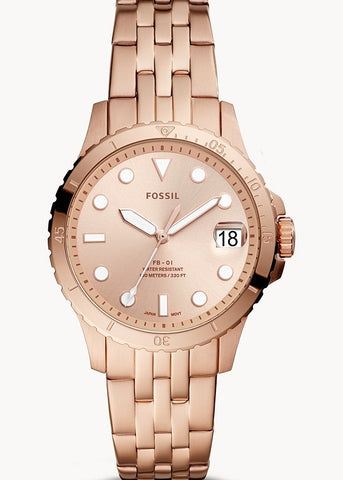 FOSSIL LADIES FB-01 ROSE GOLD DIAL & BRACELET ES4748