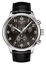 TISSOT SWISS GENTS XL CHRONOGRAPH BLACK LEATHER STRAP T116-617-16-057-00