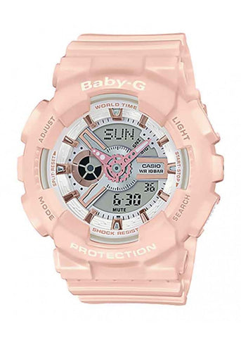 CASIO BABY G ANALOGUE / DIGITAL PINK BA110RG-4A