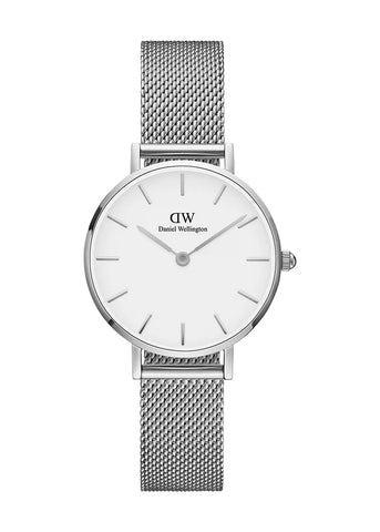 DANIEL WELLINGTON PETITE STERLING S, SILVER 28MM DW00100220