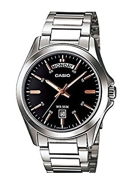 CASIO GENTS STAINLESS STEEL WATCH MTP1370D-1A2