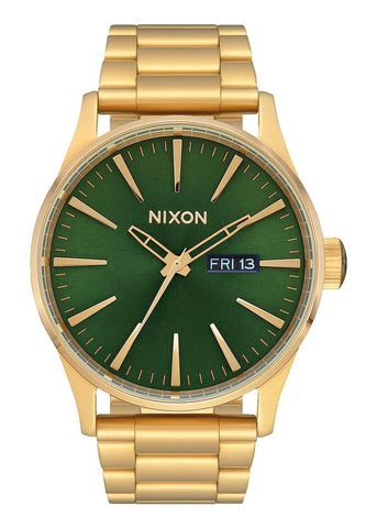 NIXON SENTRY SS GOLD / GREEN SUNRAY / HP GOLD A356 3416-00