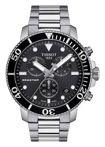 TISSOT SWISS GENTS SEASTAR CHRONOGRAPH STAINLESS STEEL T120-417-11-051-00