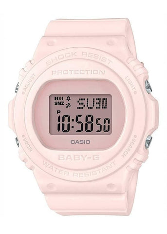 CASIO BABY G DIGITAL ROUND BASIC PINK DIAL/PINK BAND BGD570-4D