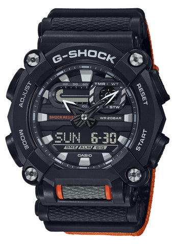 CASIO G SHOCK DUO NEW AGE DESIGN ORANGE & BLACK GA900C-1A4
