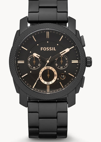 FOSSIL GENTS MACHINE CHRONOGRAPH MATT BLACK FS4682