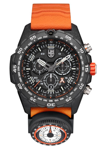 LUMINOX BEAR GRYLLS MASTER SERIES  BLACK,ORANGE STRAP XB.3749
