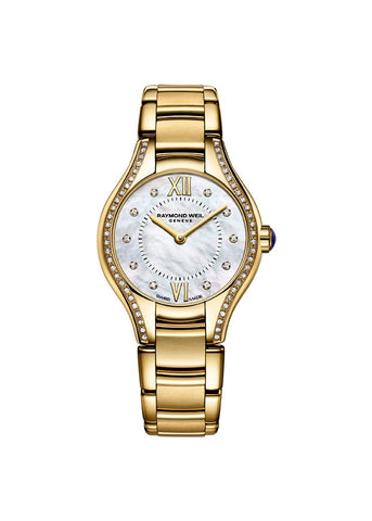 RAYMOND WEIL NOEMIA LADIES 62 DIAMOND SET GOLD 5124-PS-00985