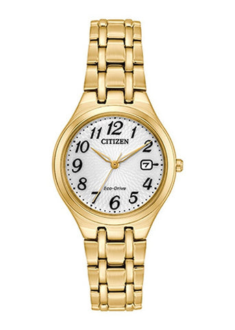 CITIZEN LADIES ECO-DRIVE GOLD BRACELET EW2482-53A