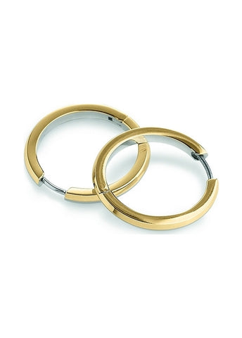 BOCCIA TITANIUM JEWELLERY EAR RINGS PART GOLD PLATED 0574-02