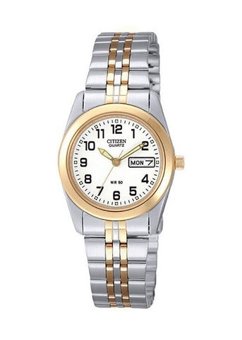 CITIZEN QUARTZ LADIES BI-TONE BRACELET EQ0514-57A