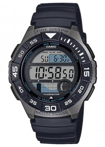 CASIO GENTS DIGITAL MARINE TIDE WATCH WS1100H-1A