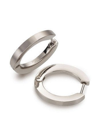 BOCCIA TITANIUM JEWELLERY EARRINGS PART POLISH/SATIN 0558-01