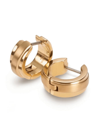 BOCCIA TITANIUM JEWELLERY EAR RINGS POLISHED GOLD PLATED 0560-05