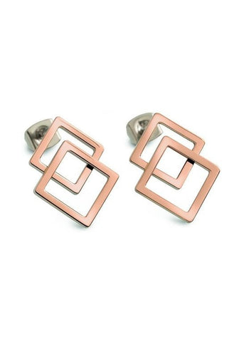 BOCCIA TITANIUM JEWELLERY EAR RINGS PART ROSE GOLD PLATED 05025-03