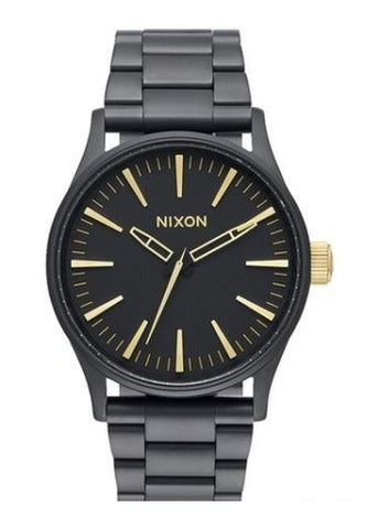 NIXON SENTRY 38 SS MATTE BLACK  /  GOLD A450-1041