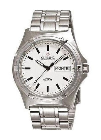 OLYMPIC GENTS WHITE INDEX DIAL 28065S