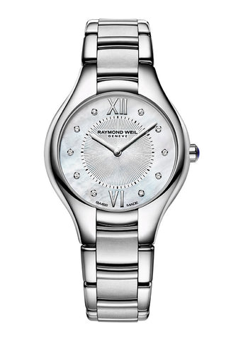 RAYMOND WEIL NOEMIA LADIES 10 DIAMOND SET STAINLESS STEEL 5132-ST-00985