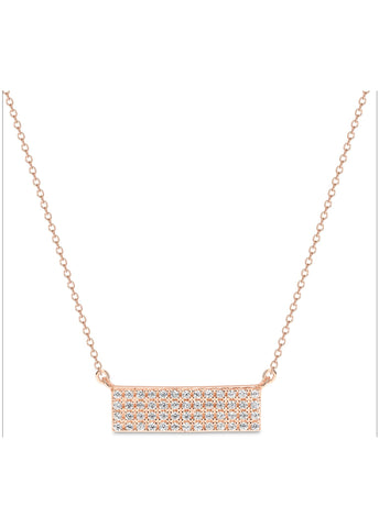 GEORGINI STERLING SILVER CASSIO ROSE GOLD PENDANT IP716