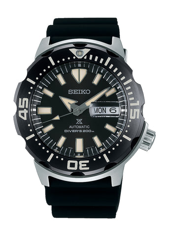SEIKO PROSPEX MONSTER AUTOMATIC DIVERS D200M BLACK STRAP SPRD27K