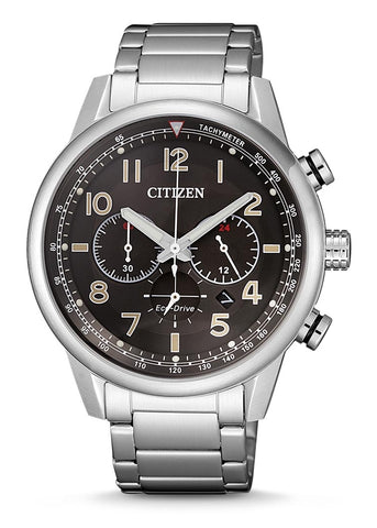 CITIZEN GENTS ECO-DRIVE CHRONOGRAPH STAINLESS STEEL BRACELET CA4420-81E