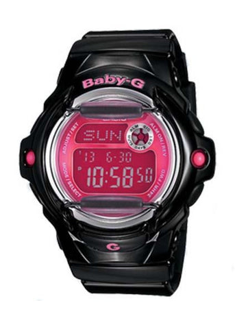 CASIO BABY G DIGITAL BLACK/PINK DIAL BG169R-1B