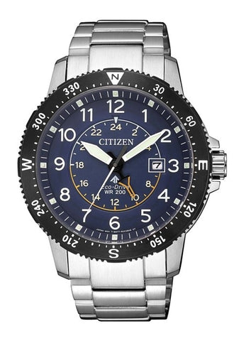 CITIZEN GENTS ECO-DRIVE PROMASTER LAND BLUE DIAL BJ7094-59L