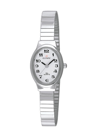 OLYMPIC LADIES OVAL 12 FIGURE DIAL EXPANDING STRAP 71062