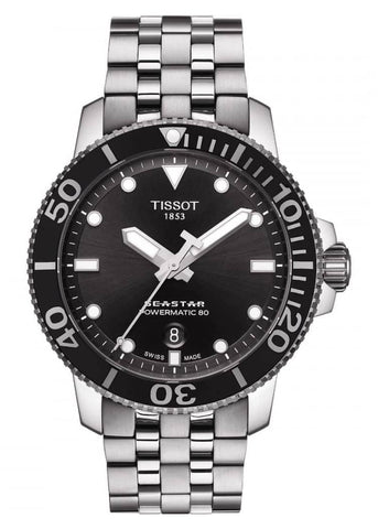 TISSOT SWISS GENTS SEASTAR POWERMATIC 80 STAINLESS STEEL T120-407-11-051-00