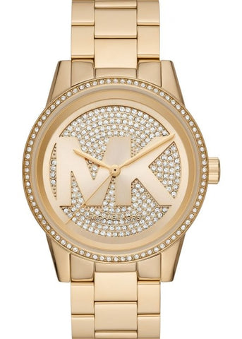 MICHAEL KORS WATCH RITZ GOLD CRYSTAL SET MK6862