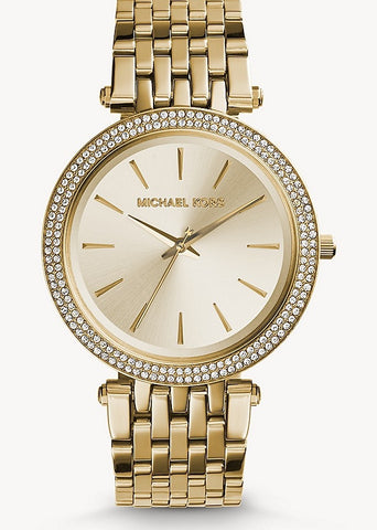 MICHAEL KORS WATCH DARCI GOLD CRYSTAL SET MK3191