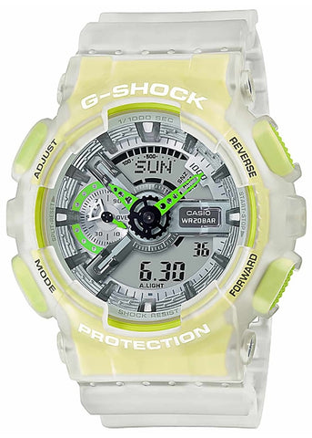CASIO G SHOCK DUO VIBRANT SEE THROUGH YELLOW GA110LS-7A