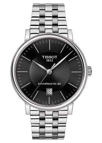 TISSOT SWISS GENTS CARSON AUTOMATIC BLACK DIAL T122-407-11-051-00