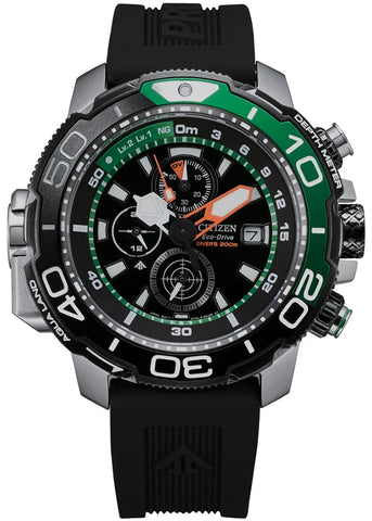 CITIZEN GENTS ECO-DRIVE PROMASTER DIVERS GREEN BJ2168-01E