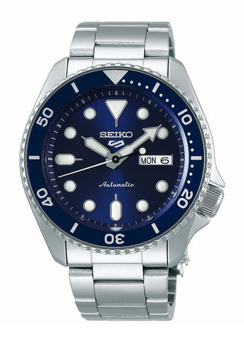 SEIKO 5 SPORTS AUTOMATIC BLUE DIAL STAINLESS STEEL BRACELET SRPD51K