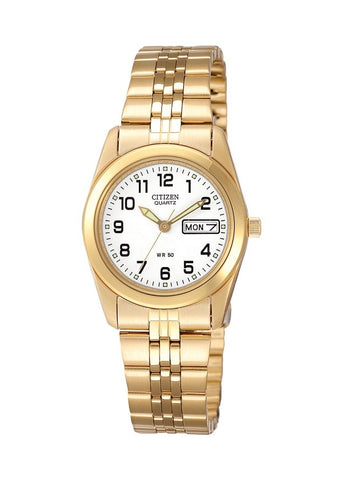 CITIZEN LADIES QUARTZ GOLD BRACELET WR50 EQ0512-52B