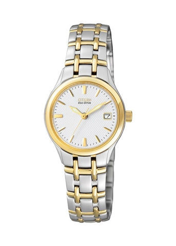 CITIZEN LADIES ECO-DRIVE ROUND BI-TONE BRACELET EW1264-50A